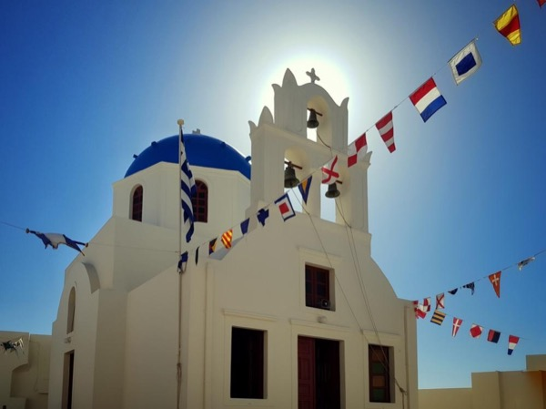 Post cards of Santorini and photo tour