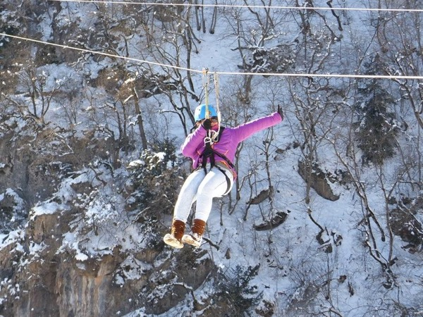 Winter Zip line Adventure