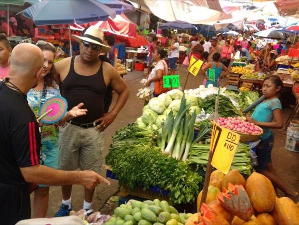 Acapulco Municipal Market & Archaeological Palma Sola Petroglyphs Site