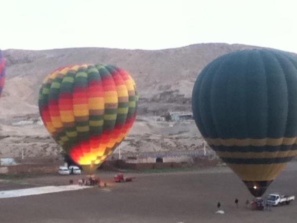 Luxor from a hot air balloon