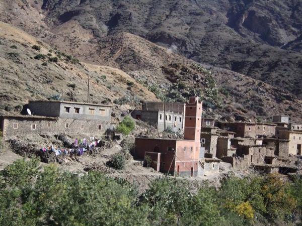 Three valleys throughout the Atlas mountains with Berber villages.