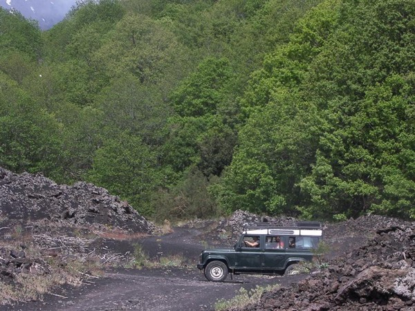 Etna jeep half day tour
