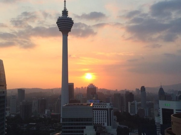 Sunset and Evening in Kuala Lumpur