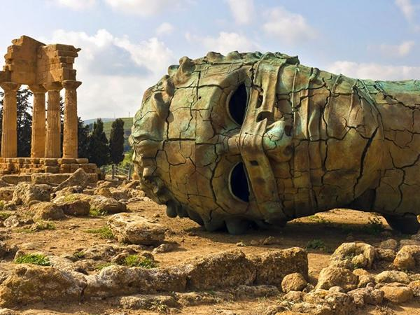 Agrigento,Valley of Temples and Cultural Farm. Ancient and Contemporary Art experience.