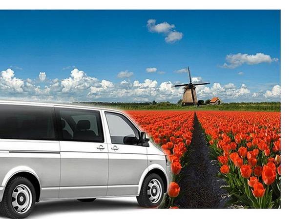 Keukenhof & flower fields by van