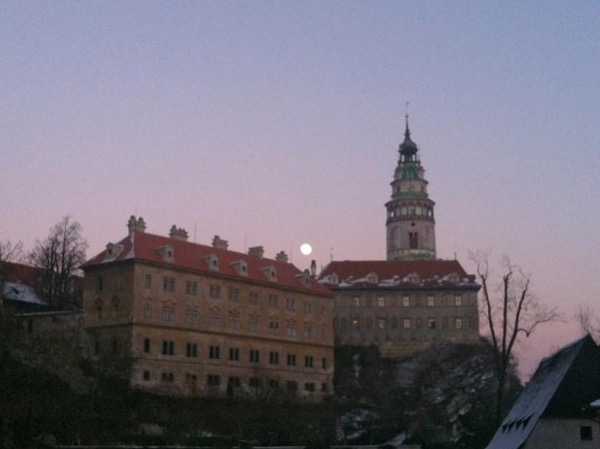 Private evening walking tour of Cesky Krumlov Old Town, Castle Courts