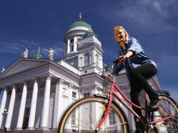Helsinki by bicycle.