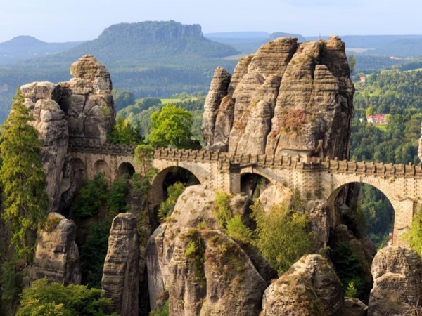 Bastei Bridge and Tisa Rock Labyrinth - Narnia Movie Set (Germany)