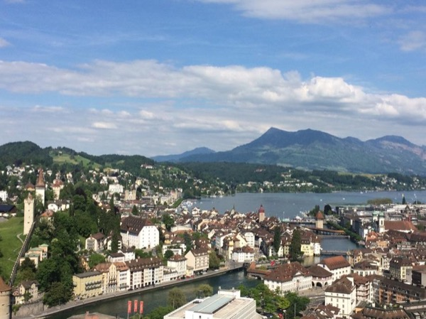 Above the rooftops of Lucerne
