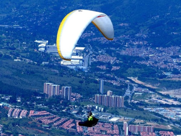 Flying over Medellín