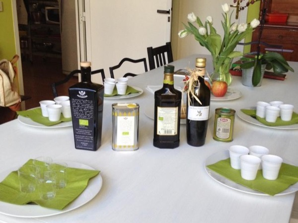Olive oil class and quick lunch