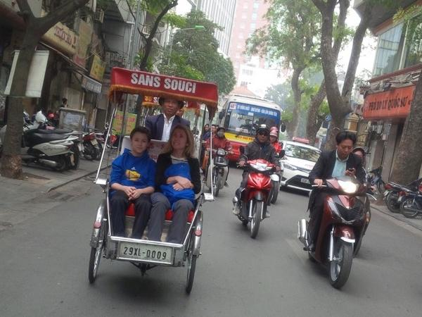 Explore Hanoi city on rickshaw