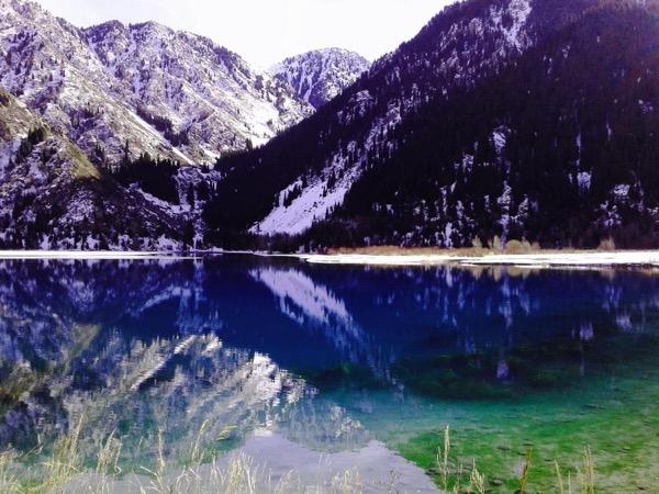 Issyk lake and Bear Waterfall