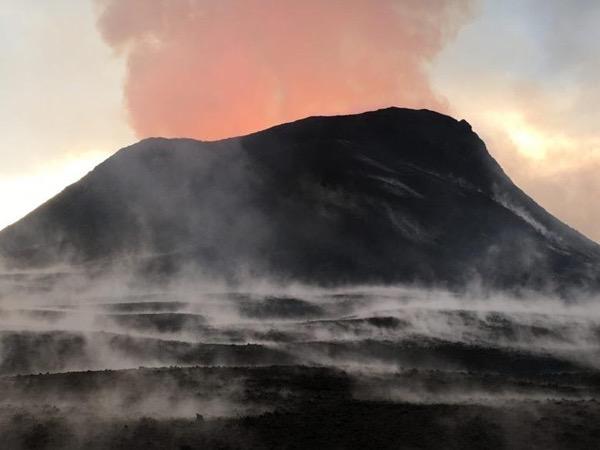 Kona Coast 2018 Eruption Tour, Sea cliffs, Rainforest, Lava flows & Kalapana - 11 Passenger Mercedes van back roads tour