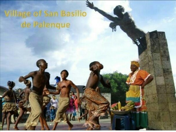 Legacy of african slaves in Cartagena and San Basilio de Palenque.