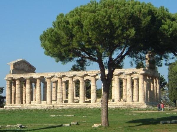 Greek temples of Paestum, mozzarella farm and World War II allied cemetery