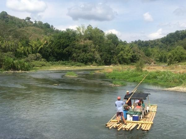 Typical rafting down 'La Vieja' river experience