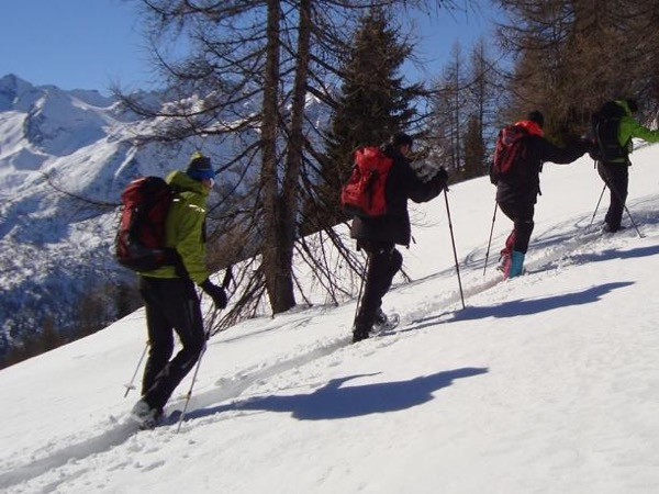 Snowshoeing in the Alps!