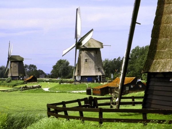 Half day, lay-over, private excursion to the Dutch countryside with windmills, polders and villages.