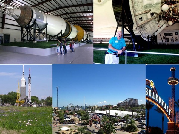 Pre Cruise Visit to NASA Rocket Park plus Kemah Boardwalk with Transportation from Houston Airport to Galveston Cruise Port