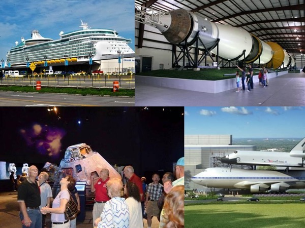Pre Cruise Visit to Space Center Houston with Transportation from Houston Airport to Galveston Cruise Port
