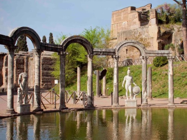 The Hadrian's Villa at Tivoli