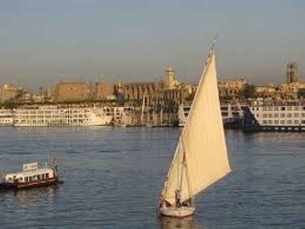 Sailing in Felucca in Luxor During Sunset Time