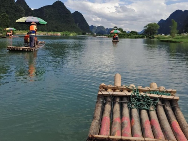 Yangshuo Xianggong Mountain & Yulong bamboo boat private day tour