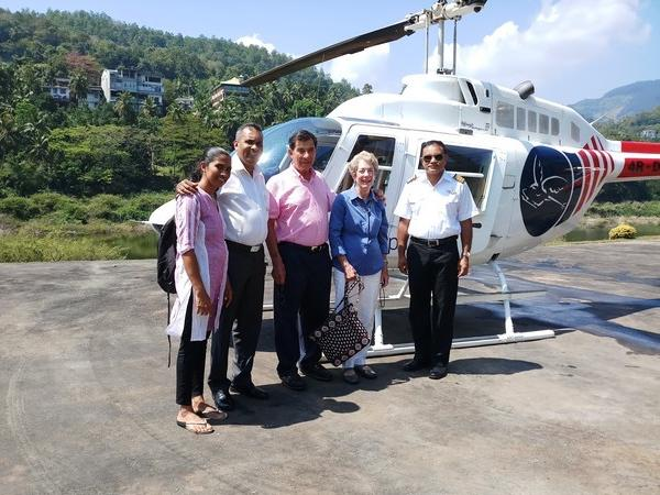 Private Helicopter tour to Historical heart of Kandy