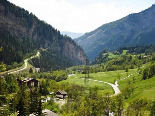Scenic Drive in the Swiss Alps
