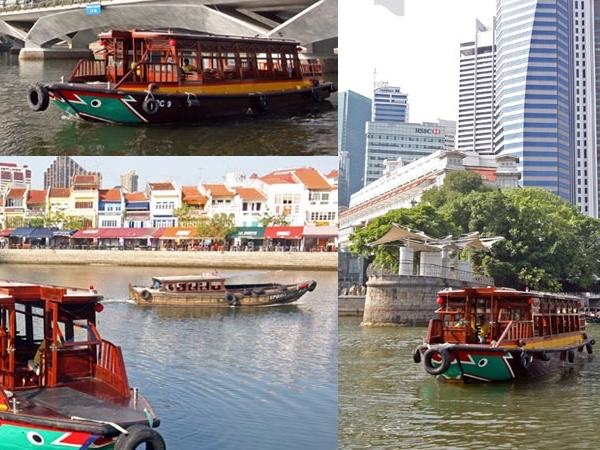 Tour of Singapore River followed with a river cruise ride