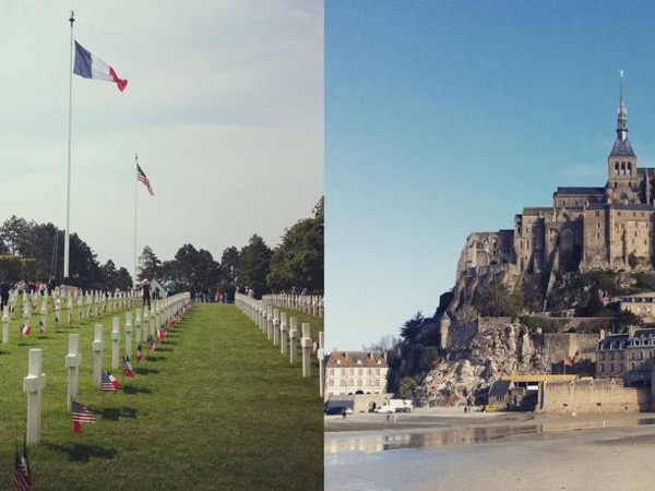 Omaha Beach Landing and Mont Saint Michel Private Tour