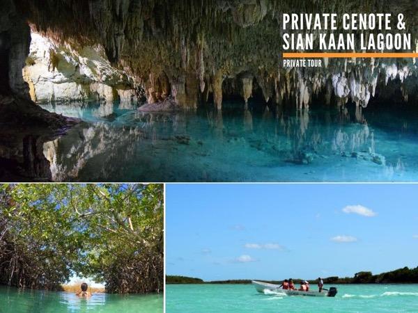 Private Underground Cenote & Sian Kaan Lagoon Experience