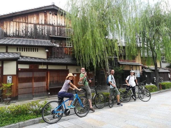Central Kyoto eco-friendly private bike tour