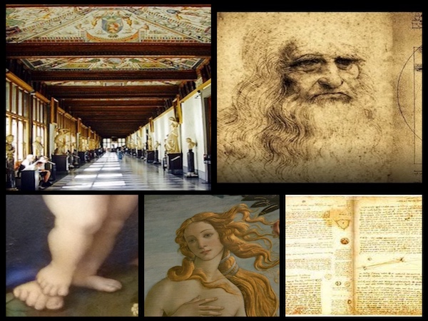 Skip the line - Uffizi small Tour & The exhibition celebrates 500th anniversary of da Vinci's death.