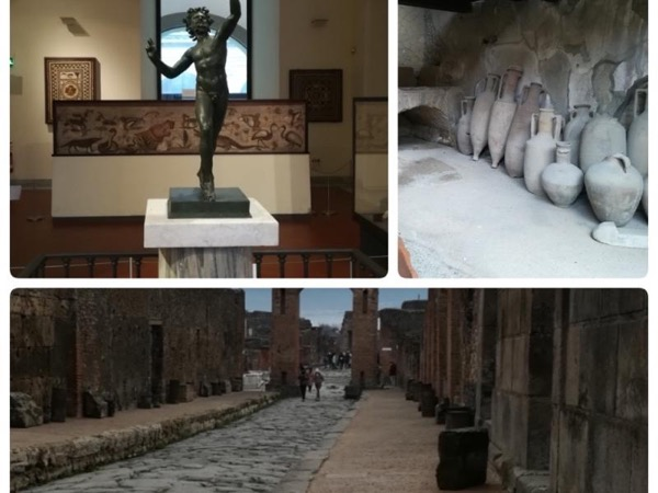 Pompeii and Herculaneum ruins with the Archeological Museum in one day
