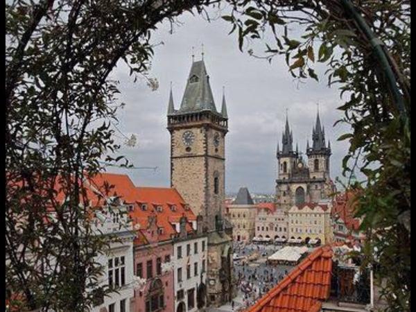 Golden and hundred spires Prague