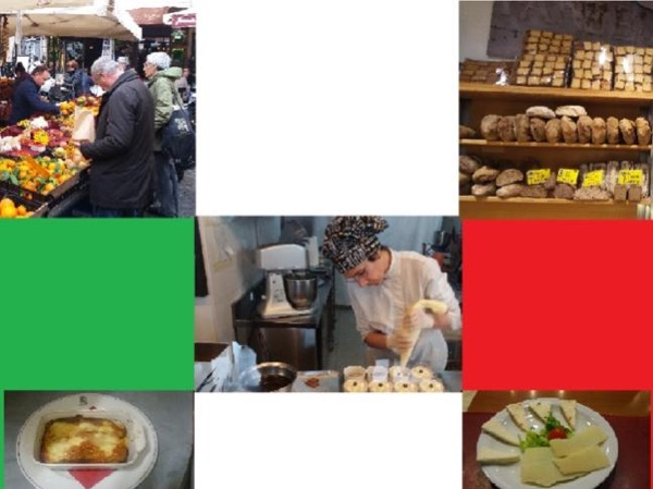 Ancient traditions of Italian food and cuisine in the morning of Rome