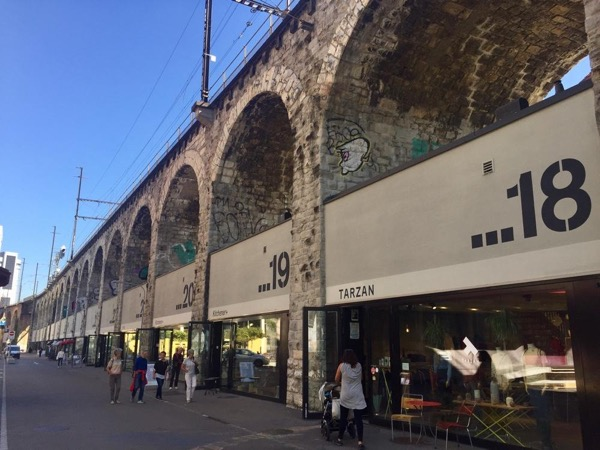 Historical and trendy Viaduct in Zurich