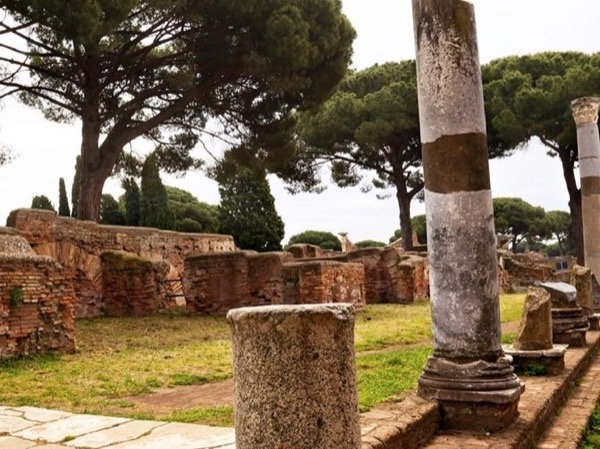 Archeological excavation of Ancient Ostia