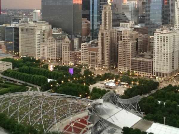 Chicago's star park and City orientation