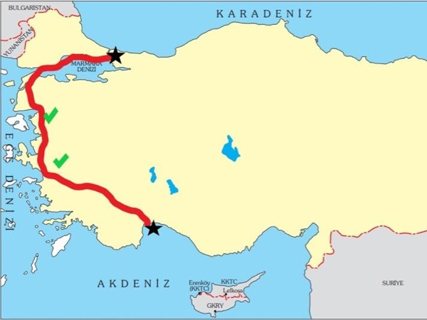 We start in Antalya and tour till Istanbul (or reverse upon request ) / 2 overnights on the way