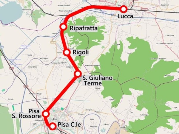 Lucca and Pisa by train