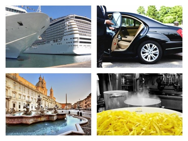Feel like a Star in Rome: a Walk in the Eternal City, Cooking class, Lunch, Pickup and Drop Off at Civitavecchia Harbour