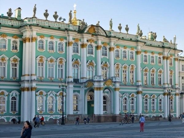 Hermitage museum with a guide