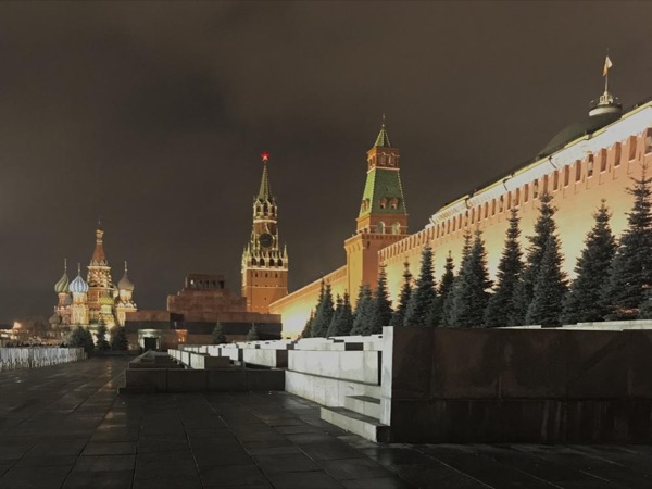 Moscow by night and Metro walking tour