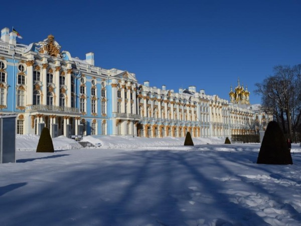 Multi faced city. Alexander Nevsky Monastery, Pushkin town, Saint-Petersburg