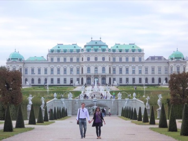 Historic gardens of the Belvedere palace private tour