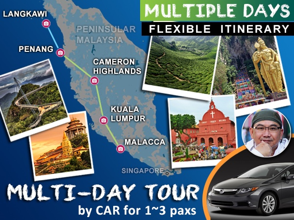 [1~3 paxs] Multi-Day Tour in Malaysia_by_Honda_Civic_1.8L