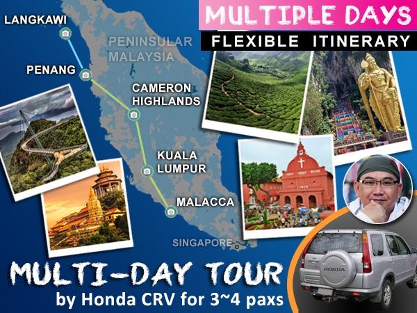 [3~4 paxs] Multi-Day Tour in Malaysia_by_Honda_CRV_2.0L